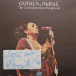 Carmen McRae - Great American Songbook - AUTOGRAPHED
