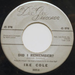 Ike Cole - Did I Remember?/My Blue Heaven