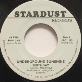 Underground Sunshine/Sue Thompson - Birthday/If The Boy Only Knew