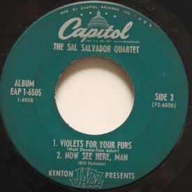 Sal Salvador Quartet - Down Home/Salutations