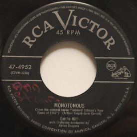 Eartha Kitt - Monotonous/Boston Beguine
