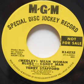 Terry Stafford - Mean Woman Blues/Candy Man