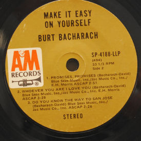 Burt Bacharach Make It Easy On Yourself 7 Quot Vinyl A Amp M Sp
