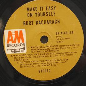 Burt Bacharach - Make It Easy On Yourself