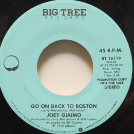 Joey Giaimo - Go On Back To Boston