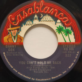 Danny Cox - You Can't Hold Me Back