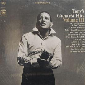 Tony Bennett - Tony's Greatest Hits Vol. III – SEALED