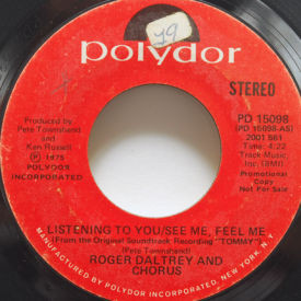 Roger Daltrey - Listening To You/See Me, Feel Me
