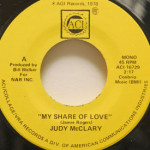 Judy McClary - My Share Of Love/Peaceful Feeling