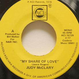 Judy McClary - My Share Of Love/Peaceful Feeling