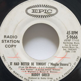 Buddy Greco - It Had Better Be Tonight/More