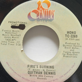 Quitman Dennis - Fire's Burning