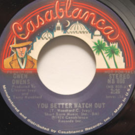 Gwen Owens - You Better Watch Out