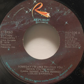 Leslee Barnhill - Someday Id Like To Love You