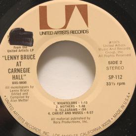 Lenny Bruce - Lenny Bruce At Carnegie Hall