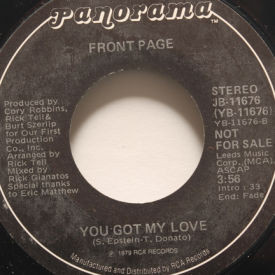 Front Page - Love Insurance/You Got My Love