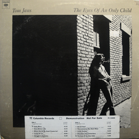 Tom Jans - Eyes Of An Only Child