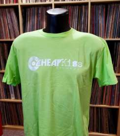 Cheap Kiss Records Men's T-shirt Green Large