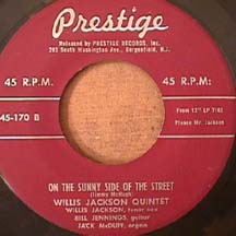 Willis Jackson - Come Back To Sorrento / On The Sunny Side Of The