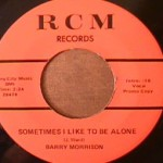 Barry Morrison - Shakey Hollow Stud/ Sometimes I Like to be alone