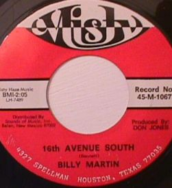 Billy Martin - One Little Girl/ 16th Avenue South