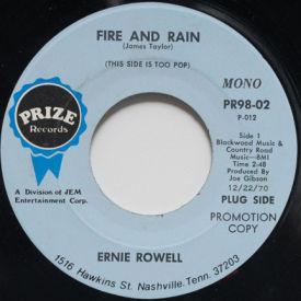 Ernie Rowell - Fire And Rain