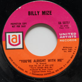 Billy Mize - You're Alright With Me