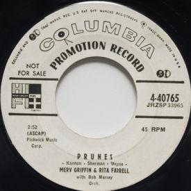 Merv Griffin & Rita Farrell - Prunes/We Ain't Goin' Nowhere