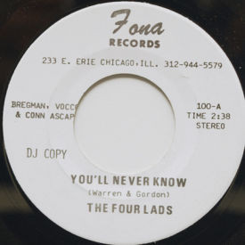 Four Lads - You'll Never Know