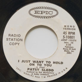 Patsy Sledd - I Just Want To Hold On To You
