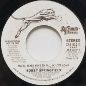 Bobby Springfield - You'll Never Have To Fall In Love Again