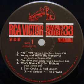 Sam Cooke/Rod Lauren/Neil Sedaka/The Browns - Hey There/Young And Warm/Circulate/Who's Gonna Buy
