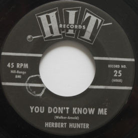 Herbert Hunter - You Don't Know Me