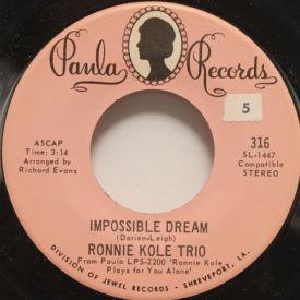 Ronnie Kole Trio - Impossible Dream/San Antonio Rose